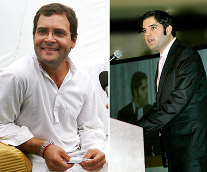 Rahul and his estranged cousin Varun Gandhi are contesting elections from adjoining constituencies in Uttar Pradesh.