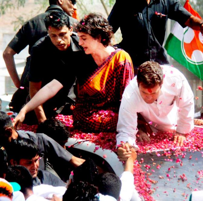 Priyanka Gandhi has been extensively campaigning for her brother Rahul in Amethi.