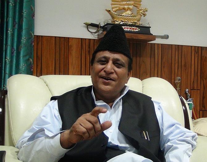 Uttar Pradesh Minister and Samajwadi Party leader Azam Khan at his Lucknow home.