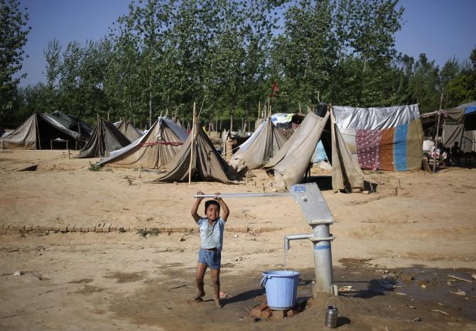 A relief camp in the village of Kutba, Muzaffarnagar, in Uttar Pradesh.