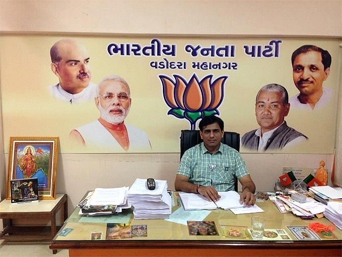 Bharat Dangar, the Bharatiya Janata Party city president in Vadodara