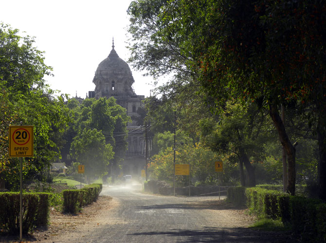 The rajmata's palace is away from the city's hustle and bustle