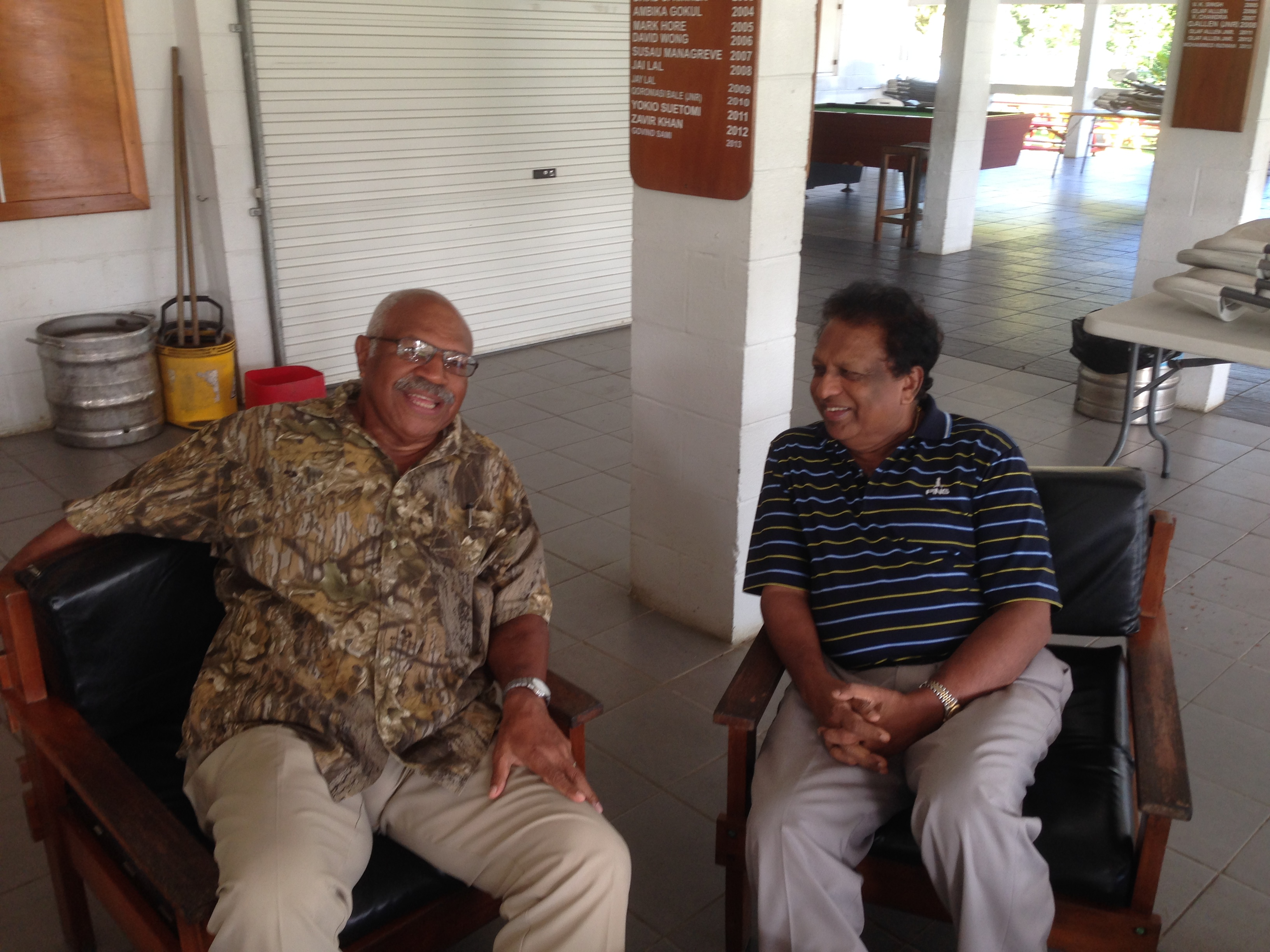 Sitiveni Rubuka with T P Sreenivasan