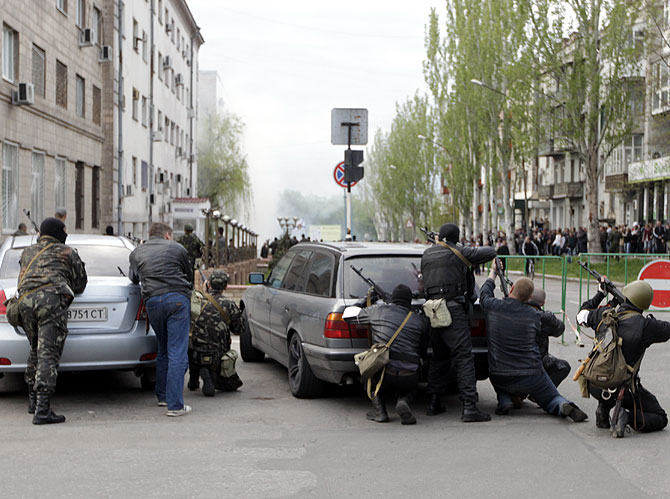 PHOTOS: Defiant militia strike again in Ukraine
