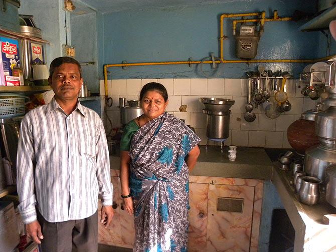 Santosh Navle, 50, and Neetaben Navle, 43, live in Hujarat Thekda, Vadodara.
