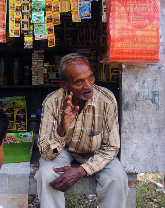 Majid, who owns a paan-beedi shop across the road from the guesthouse that Rahul Gandhi stays at in Munshiganj when he visits Amethi.