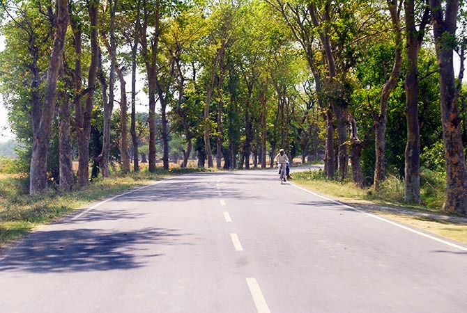 The 20-km stretch from the highway to the guest house in Munshiganj is silken in its entirety.