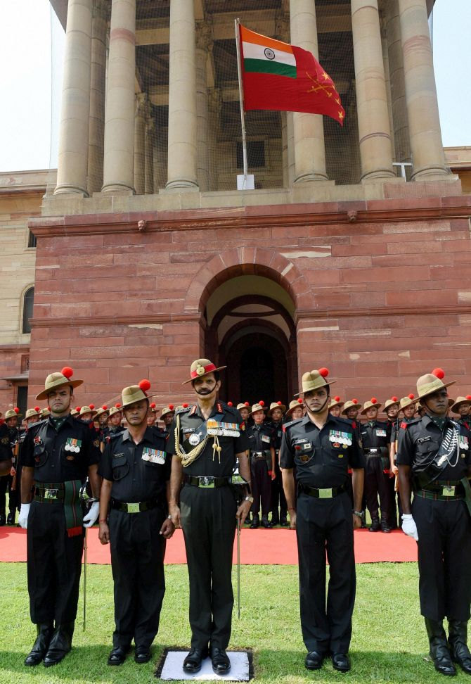 New army chief's first day in office