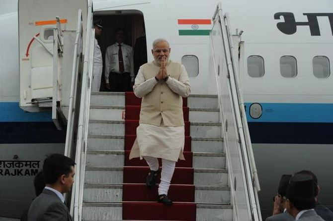 This is the first visit by an Indian PM in 17 years.