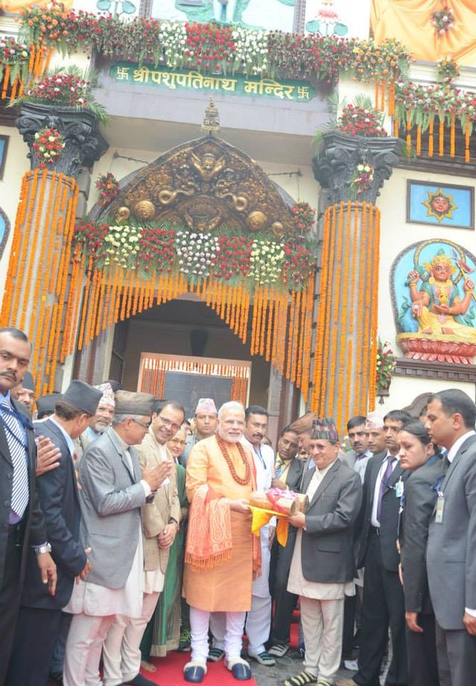 Earlier in the day, PM Modi visited the Pashupatinath Temple and offered 2,500 kg of sandalwood.