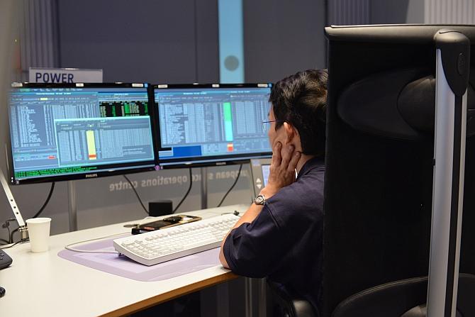 Inside the ESA control centre