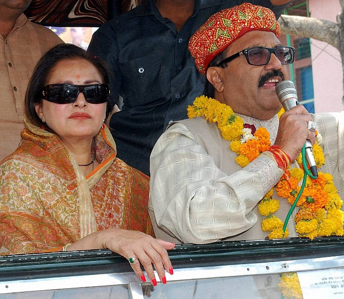 Amar Singh with actress-turned-politician Jaya Prada