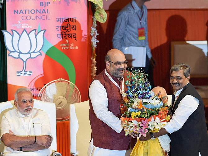 Shah formally takes charge of the party