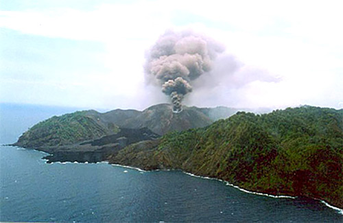 Barren Island volcano on the Andaman and Nicobar Islands.