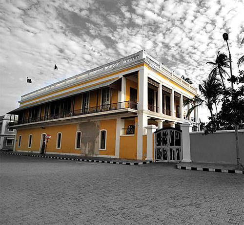 The French consulate located at Goubert Avenue, White Town, Pondicherry.