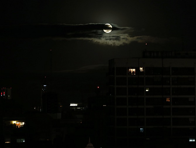 Supermoon lights up the August skies