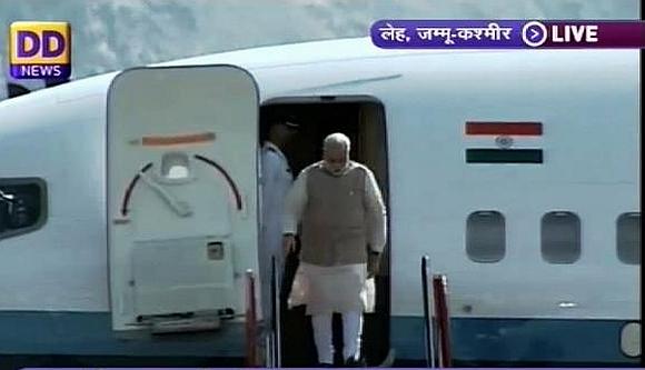 PM Modi arrives in Leh