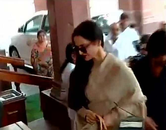 Photos: Rekha makes 'guest' appearance in Rajya Sabha
