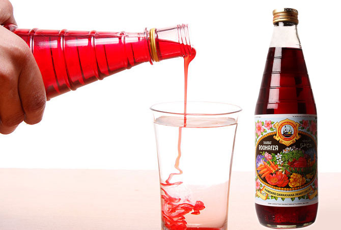 Rooh Afza is one of Hamdard's flagship products.