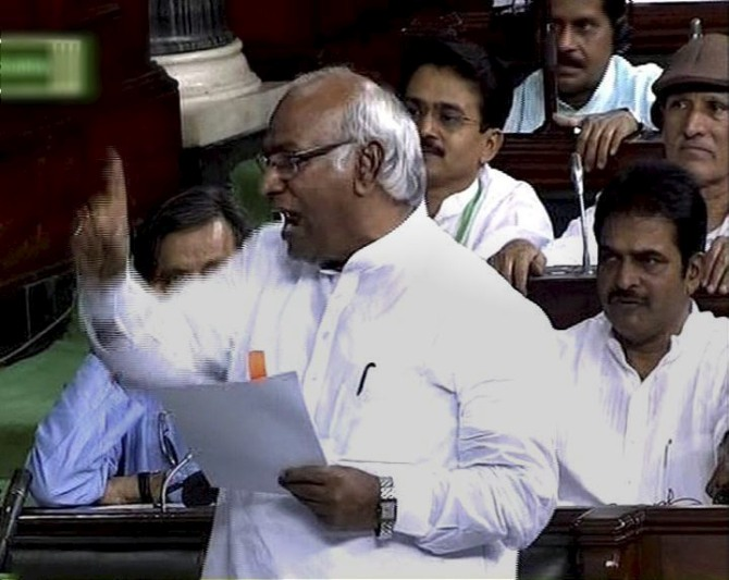 Leader of Congress on Lok Sabha Mallikarjun Kharge