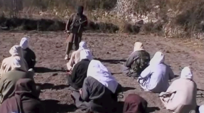 An alleged terror training camp in Pakistan.