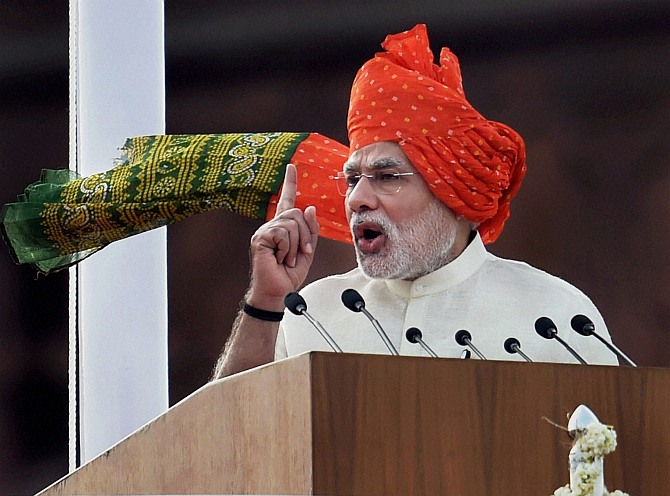 3 new slogans Modi raised at Red Fort