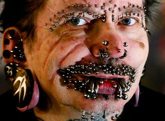Why Dubai barred world's 'most pierced' man