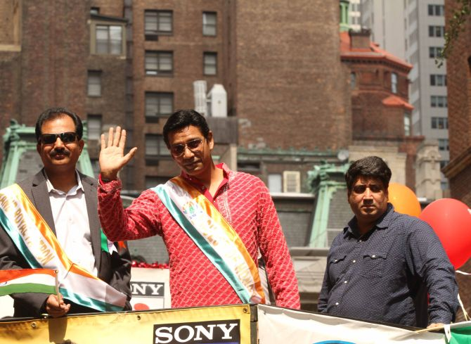 Television stars also made their presence felt at the parade.