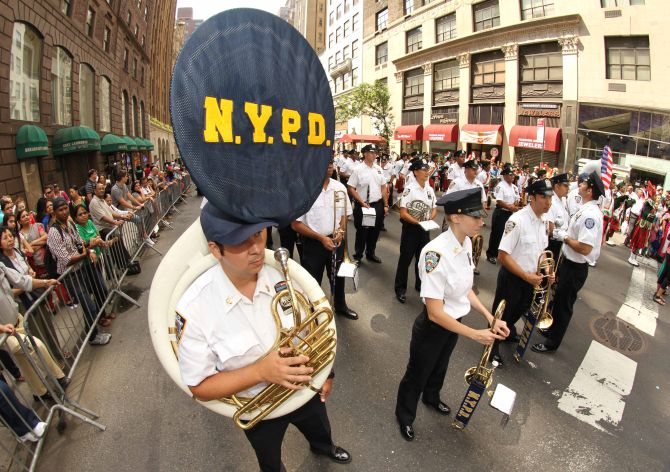 The New York Police Department was also a part of the parade