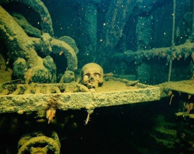 The Chuck Lagoon in South Pacific, the biggest graveyard of ships in the world