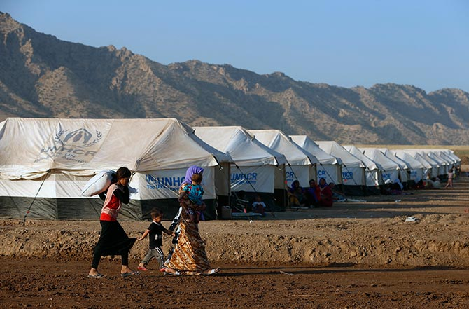 The Bajed Kadal refugee camp south west of Dohuk.
