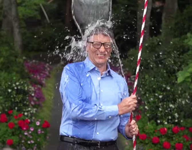 Philanthropist and investor Bill Gates takes the challenge
