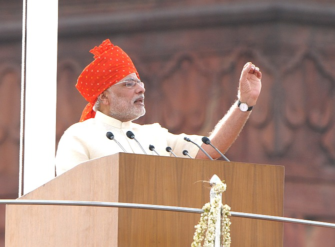 8 quotes from PM Modi's 65 minute I-Day extempore