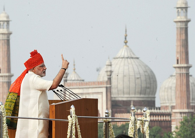 Rate PM Narendra Modi's maiden I-Day speech