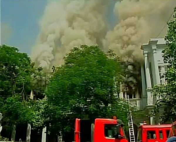 India News - Latest World & Political News - Current News Headlines in India - PHOTOS: Fire in Delhi's Connaught Place