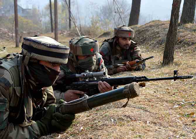Indian soldiers in Jammu and Kashmir.