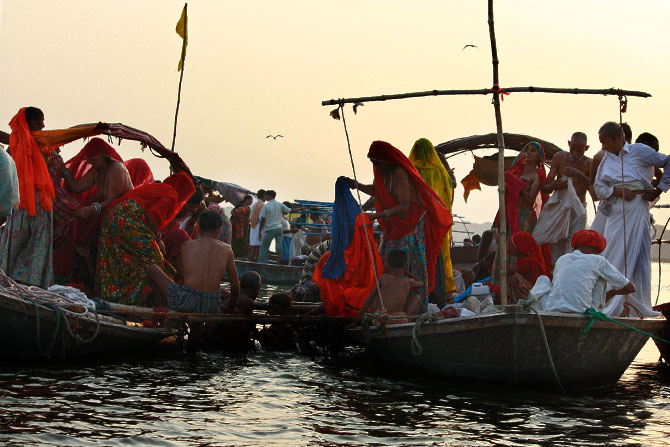 Taking a dip in the Sangam