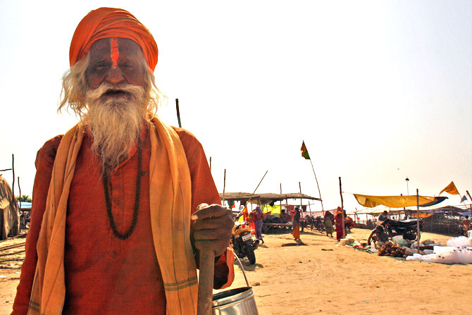 A sadhu on the banks of the Sangam