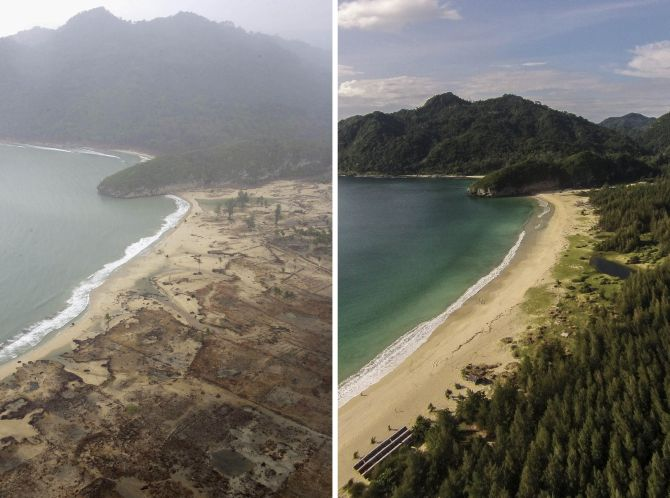 10 yrs since the tsunami: PHOTOS from then & now - Rediff ...
