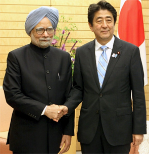 Manmohan Singh and Shinzo Abe