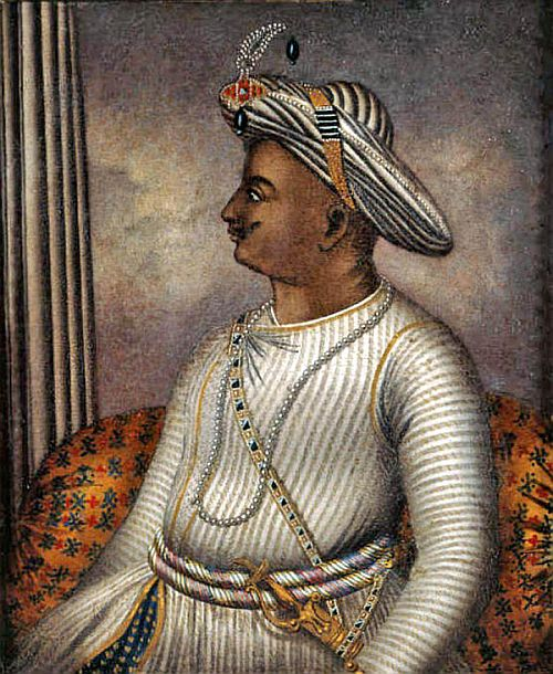 Portrait of Tipu Sultan once owned by Richard Colley Wellsley, now in the care of the British Library