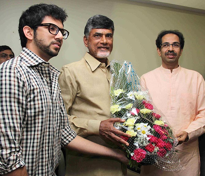 Uddhav, Naidu team up against Congress
