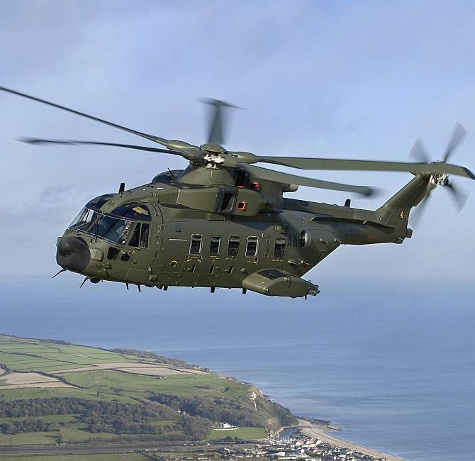 The AgustaWestland AW-101 helicopter.