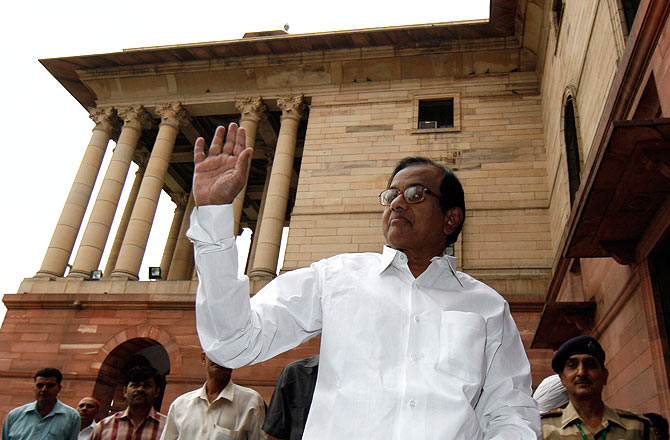 Palaniappan Chidambaram, then Union home minister, in New Delhi, May 25, 2009.