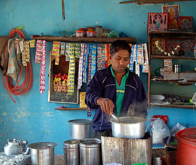 Tea stall owner Mohanbhai