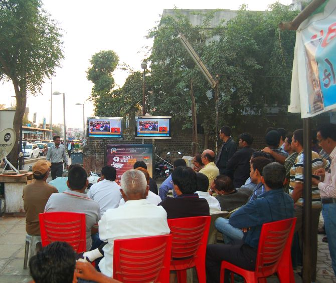 Low turnout of listeners seen at Himmatlal Park during the campaign