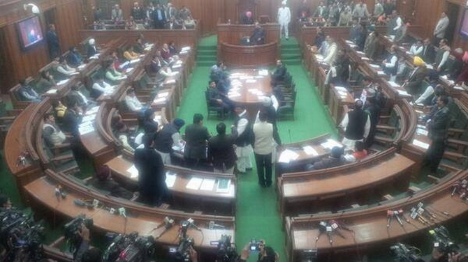 Inside Delhi Assembly the day AAP tried to table the Jan Lokpal Bill