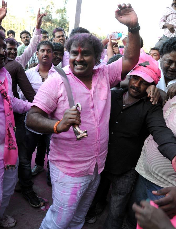 'People of Telangana took their own lives'