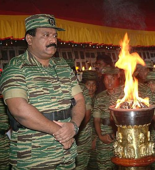 Undated photograph of slain LTTE chief Velupillai Prabhakaran