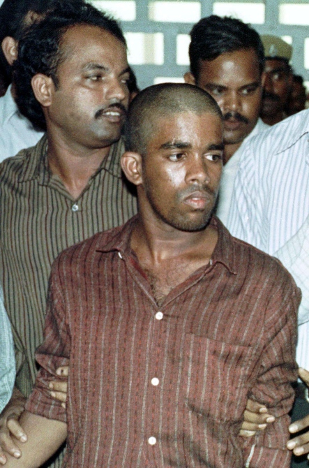 Sriharan alias Murugan seen in a court in Chengalpattu in this photograph taken onm June 15, 1991.